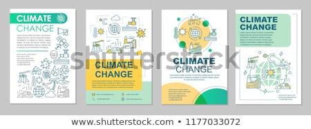 Globális klímaváltozás környezeti 3d illusztráció pecsét papír Stock fotó © olivier_le_moal