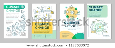 Stockfoto: Globale · klimaatverandering · milieu · 3d · illustration · papier