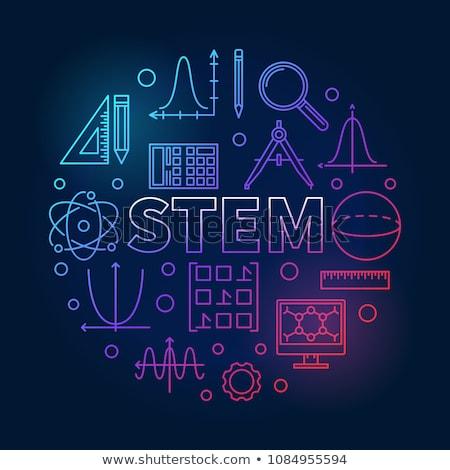 Stengel onderwijs onderwijs methode moderne leren Stockfoto © RAStudio