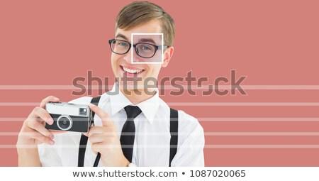 sonolento · adulto · homem · óculos · branco · camisas - foto stock © wavebreak_media