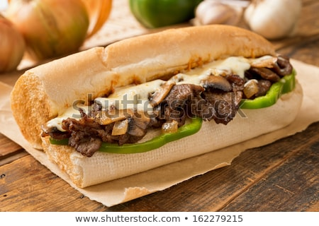 American Food Philly Cheese Steak Sandwich Stock photo © lenm