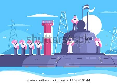 Podwodny armii statku pop art retro rysunek Zdjęcia stock © studiostoks