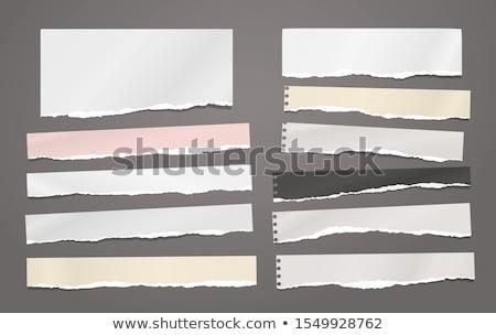 引き裂かれた紙 · バナー · 孤立した · 白 · オフィス · 紙 - ストックフォト © inxti