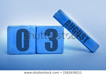 Cubes calendar 3rd August Stock photo © Oakozhan