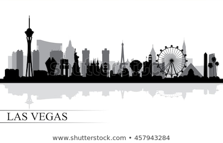 Skyline Las Vegas fond Voyage noir silhouette Photo stock © Mark01987