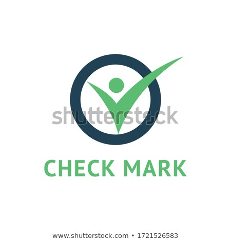 Green Check mark sign icon. Yes circle symbol. Confirm approved. Stock vector illustration isolated  Stock photo © kyryloff