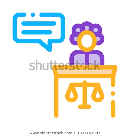 Female Witness Law And Judgement Icon Vector Illustration Stock photo © pikepicture
