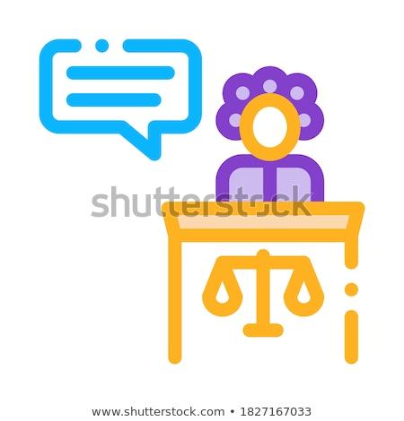 kobiet · świadek · prawa · wyrok · ikona · wektora - zdjęcia stock © pikepicture