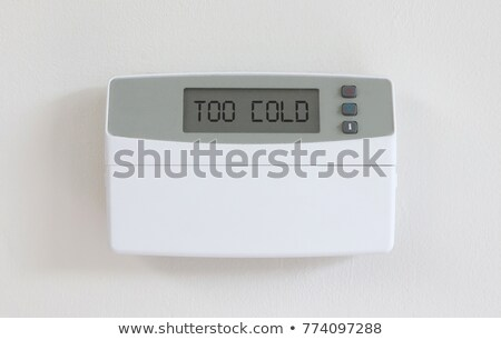 Vintage digital thermostat - Covert in dust - Too cold Stock photo © michaklootwijk