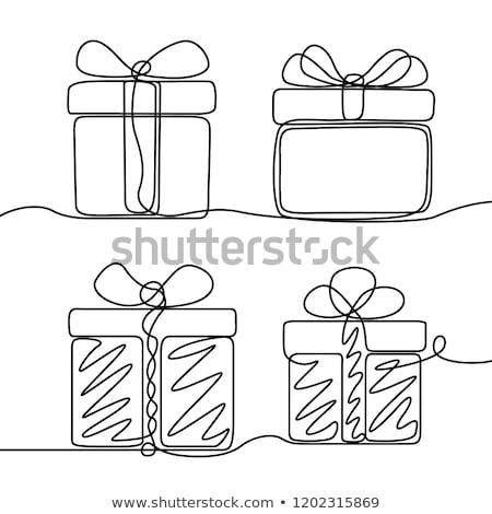 Szett izolált tárgyak karácsony buli terv művészet Stock fotó © bluering
