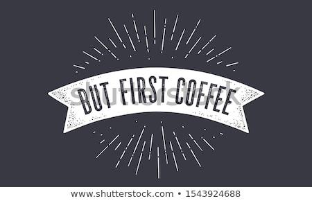 フラグ 最初 コーヒー 古い 学校 バナー ストックフォト © FoxysGraphic