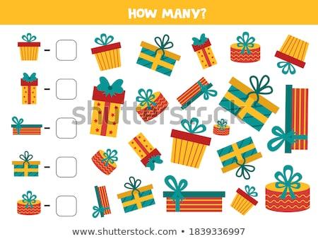 Veel presenteert geschenken onderwijs taak illustratie Stockfoto © izakowski