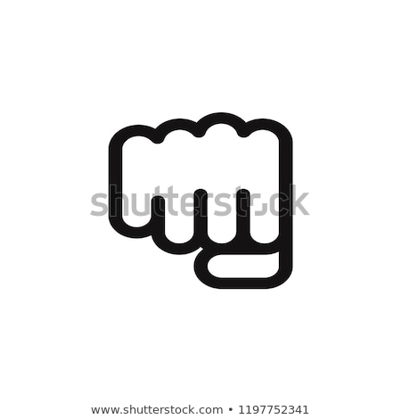 Strength Fist Punch Icon Vector Outline Illustration Stock photo © pikepicture