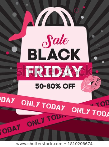 Limited Promotion Black Friday Postcard Vector Stock photo © robuart