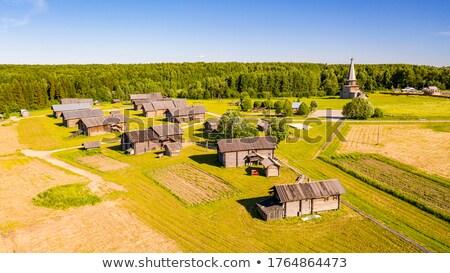 Open lucht museum Rusland historisch houten Stockfoto © borisb17