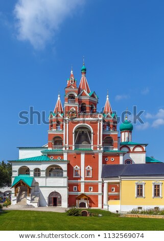 Klooster Rusland kerk hemel gebouw Blauw Stockfoto © borisb17