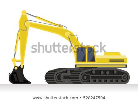 buldózer · részlet · citromsárga · közelkép · ipari · erő - stock fotó © jamdesign