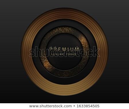 Foto stock: Vetor · preto · abstrato · papel · cortar · luxo