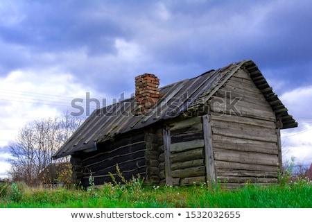 Oude huis textuur gezicht gebouw Stockfoto © pazham