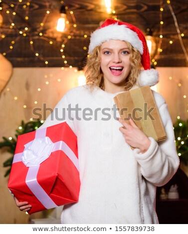 幸せ 冬 エルフ 魔法 グリーティングカード ストックフォト © robuart