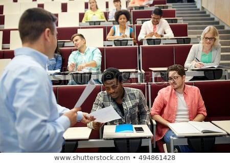 Nauczyciel studentów wykład edukacji liceum uczelni Zdjęcia stock © dolgachov