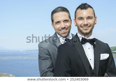 Szerető homoszexuális férfi pár esküvő nap Stock fotó © Lopolo