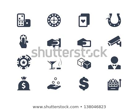 Fortune Wheel Gambler Money Dollar Coin Vector Stock photo © robuart