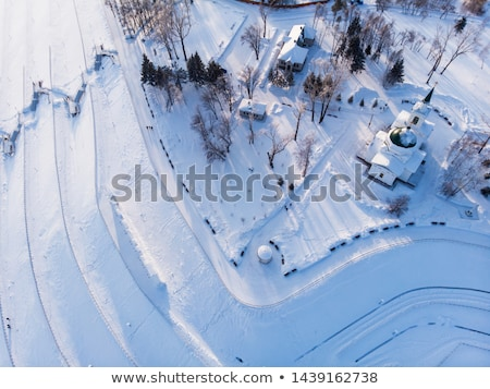 Tiro principal ver cidade sibéria Foto stock © olira