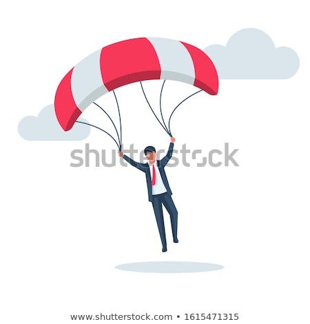 молодые бизнесмен падение парашютом бизнеса небе Сток-фото © Elnur
