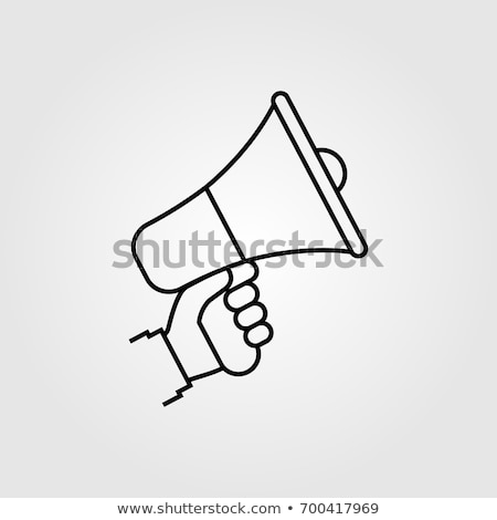 Stock photo: Loudspeaker Hand Icon Vector Outline Illustration