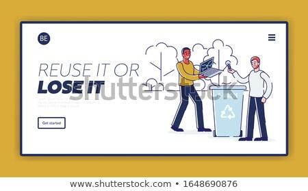 Csökkentés leszállás oldal üzletember elvesz öreg Stock fotó © RAStudio