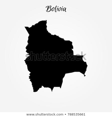 Боливия стране силуэта флаг изолированный белый Сток-фото © evgeny89