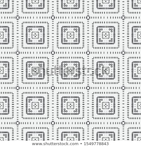 Vector Seamless Black and White Rounded Rectangle And Circle Dash Line Pattern Stock photo © samolevsky