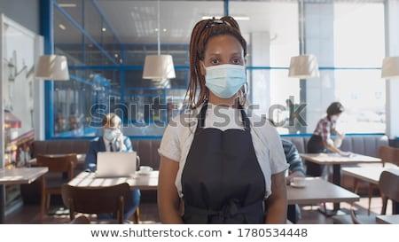 Kelnerka nowego normalny restauracji asian kobiet Zdjęcia stock © vichie81