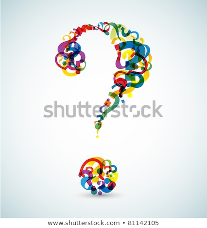 big question mark made from smaller question marks stock photo © orson
