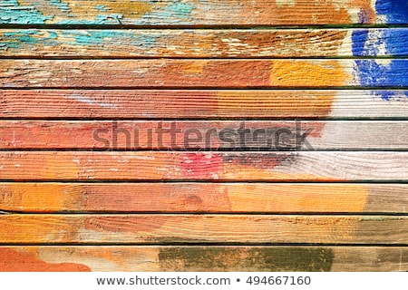 Old grunge wood panel painted orange Stock photo © nuttakit