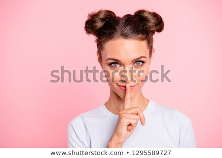 тайну · пальца · рот · лице - Сток-фото © sippakorn