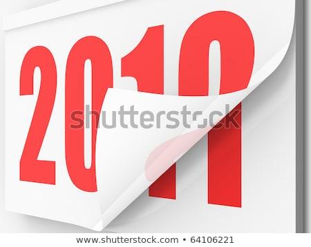 Новый год углу 2010 дизайна веб Сток-фото © orson