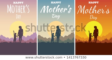 mother and son stand outdoor and look up Stock photo © Paha_L