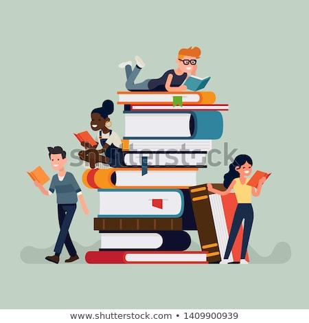 学生 読む 図書 魅力 見える カメラ ストックフォト © smithore
