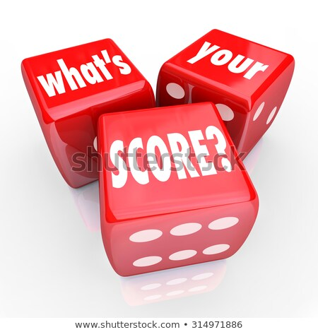 3d credit score dice Stock photo © nasirkhan