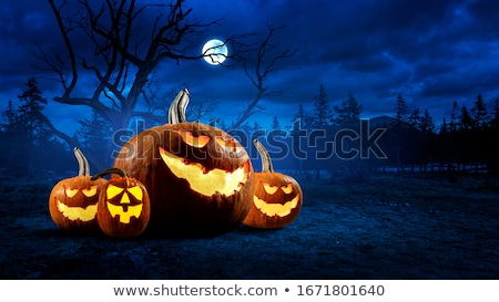 Halloween pumpkin in spooky graveyard Stock photo © Sandralise