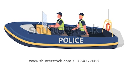 спасательные · лодка · прилагается · основной · судно · пейзаж - Сток-фото © manfredxy