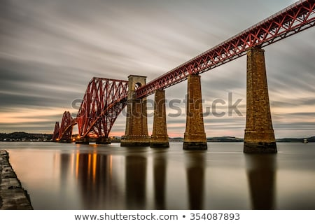 Yol köprü gün batımı Edinburg İskoçya nehir Stok fotoğraf © CraigPJ