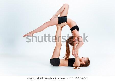 アクロバティック ダンス 若い女の子 幸せ 美 ストックフォト © pressmaster