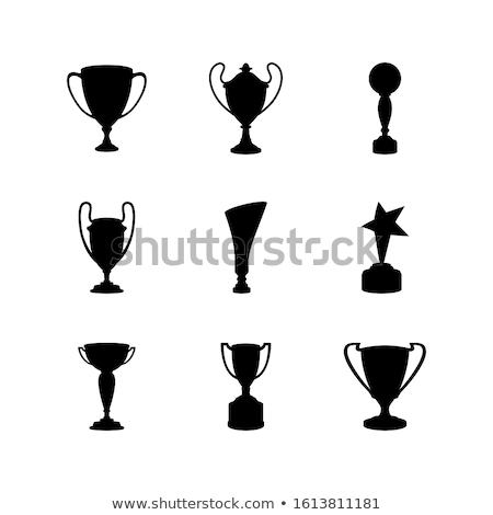футбола трофей иллюстрация Футбол спорт Сток-фото © pkdinkar