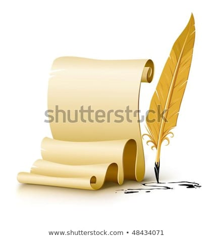 blank paper script with old ink feather pen stock photo © LoopAll