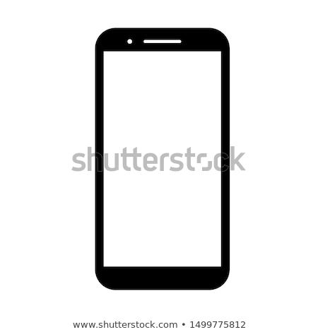Ekran dotykowy telefonu kobiet strony nowoczesne Zdjęcia stock © Pakhnyushchyy