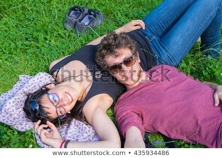 Portrait of a couple lying down Stock photo © photography33