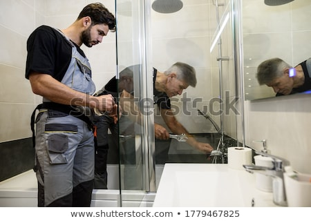 two plumbers working Stock photo © photography33